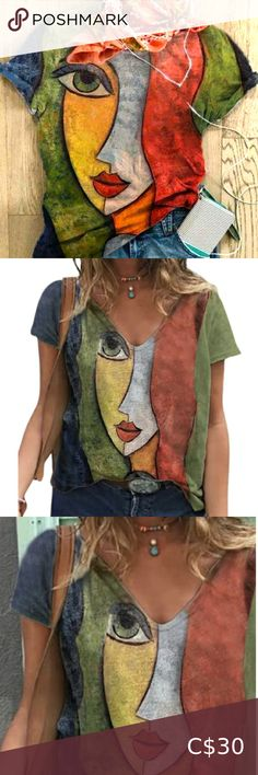 Women's Casual, Casual Pants, Summer Blouses, Short Skirts, Going Out, Tee Shirts, Stylists, V Neck, Abstract