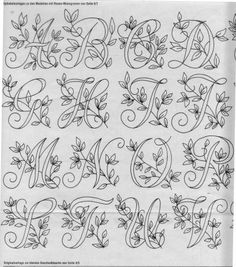 Embroidery Monogram Letters Font Alphabet 22 Super Ideas Monogram MakerMake your own monograms online with this free online monogram maker - choose your design and save or print it. Embroidery Alphabet, Embroidery Monogram, Embroidery Transfers, Hand Embroidery Patterns, Embroidery Stitches, Embroidery Designs, Paper Embroidery, Garden Embroidery, Geometric Embroidery