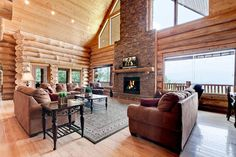 Luca's Lookout is a one-of-a-kind, handcrafted, large log cabin with Spectacular #mountain-views, 3 fireplaces, 8-person spa, and 3 master suites. Home Theater. We invite you to stay. 10 min. from Gatlinburg Bedrooms: 6 ~ Bathrooms: 5.5 ~ Occupancy: 29 #petFriendly #groupvacation
