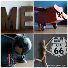 travel, explore theme boys room | World Traveler Boy's Room       Also, use old license plates-----