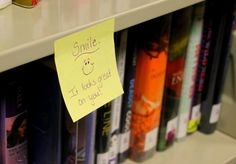 Day 5: Happy notes at the library - Kindness Seeds