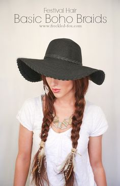The Freckled Fox : Festival Hair Week: Basic Boho Braids