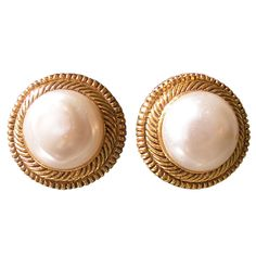 1stdibs - Pair of Vintage Chanel Pearl Earrings explore items from 1,700  global dealers at 1stdibs.com