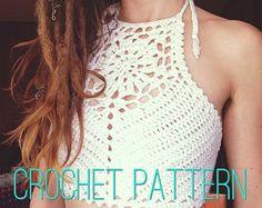 Crochet Pattern  Flower of Life Crochet Crop Top V2.0 by OfMars