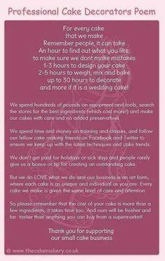 Cake decorator poem