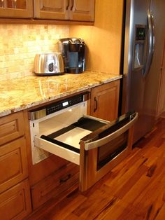 Microwave drawer like this a lot better than above the stove