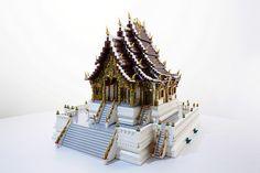Majestic golden temple of Hwa Pha Bang