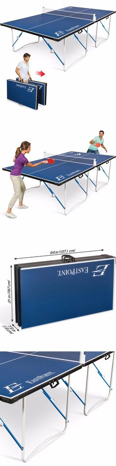 Tables 97075: Ping Pong Table Tennis Easy Setup Fold U0027N Store 12Mm Top Table