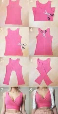 Crop Tops 816910819893804848 - These DIY tops are softer than the . - Crop Tops 816910819893804848 – These DIY tops are sweeter than the cutest summer dresses # DIY - Diy Crop Top, Diy Halter Top, Diy Kleidung, Refashioning, Cute Summer Dresses, Diy Summer Clothes, Diy Clothes Tops, Diy Clothes Ideas No Sew, Diy Party Clothes
