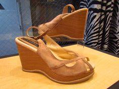 Shoes - U.BE.U. FASHION  Ellemenno Tan Suede Wedges  Size 9 ~ $29.00