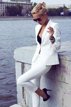 Love white business suit