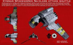 Nu-Class attack shuttle ortho [New] by unusualsuspex on DeviantArt