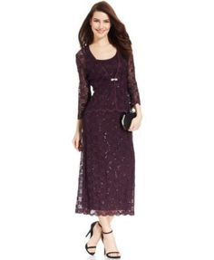 f20c0eb776d R M Richards Sleeveless Sequined Lace Dress and Jacket Women - Dresses -  Macy s. Mob DressesFormal ...