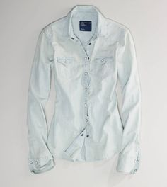 Denim - Light Chambray Shirt - AE already bought it! :) pretty though and comfy!
