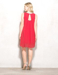 Coral Embellished Chiffon Dress | dressbarn