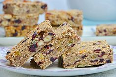 Easy Sweets, Healthy Sweets, Healthy Recipes, Oats Recipes, Sweets Recipes, Breakfast Bars, Breakfast Recipes, Healthy Granola Bars, Greek Desserts