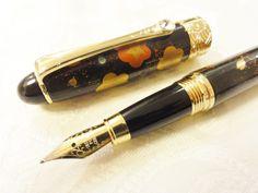 Handmade Japanese Urushi Lacquer Makie Fountain Pen Swarvski and Plum Cherry | eBay