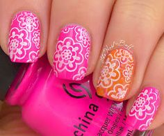 The Nail Buff: Stamping Sunday: Pulsating Pink or Purple