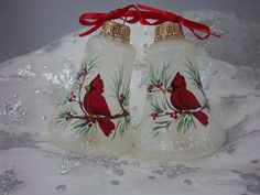 hand painted christmas ornaments bing images | Hand-Painted Cardinal Ornaments Chirstmas Ornaments