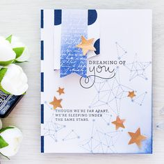 Simon Says Stamp | August 2016 Card Kit - Constellation Stamped Sky
