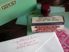 Caligraphy Stamp: Address stamp