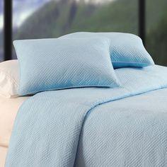 Hampton Silver Blue Quilt, Queen/Full