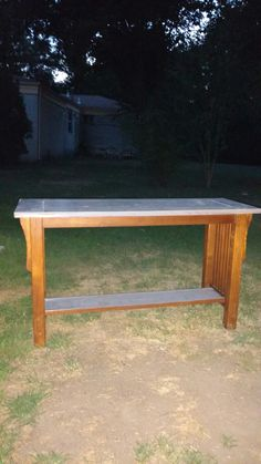 I painted it after sanding with a weathered gray stain.