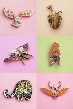 Enamel Pins by Natelle Quek of Natelle Draws Stuff
