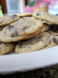Chocolate Chip, Almond & Toffee Cookies