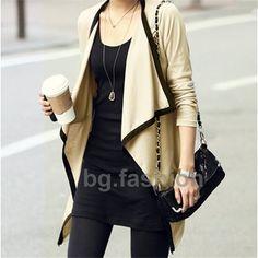 2015 mode féminine à manches longues irrégulière Hem Cardigan femme Long pull en tricot asymétrique Poncho chandail chemise manteau dans Cardigans de Accessoires et vêtements pour femmes sur AliExpress.com | Alibaba Group