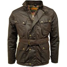 Game Speedway Men's Quilted Waxed Jacket - Brown