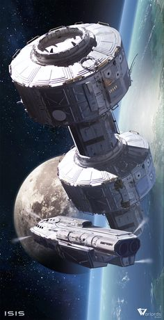 Space Station by Long-Pham.deviantart.com on @DeviantArt