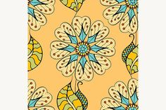 Seamless Floral Pattern Graphics Seamless Floral Pattern. Vector illustration. Hand Drawn Texture1 - Files Vector (.eps)1 - Files by Vector&VideoArtShop
