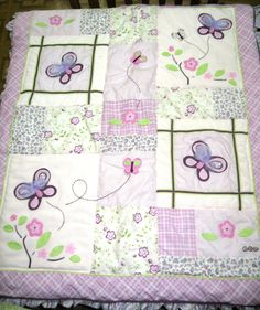 Cocalo Sugar Plum Crib Bedding purple lilac pink butterflies crib quilt #CoCaLo