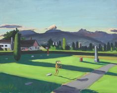 Robert Linsley and Lawrence Paul Yuxweluptun -Mountain View Cemetery- 1996 Oil on canvas 40.5 x 50.8 x 2.3 cm Collection Vancouver Art Gallery Photo Trevor Mills