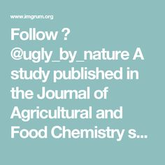 Follow 👉 @ugly_by_nature  A study published in the Journal of Agricultural and Food Chemistry summar - gmo_gus