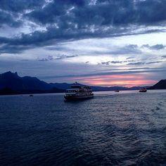 Amazing scenery on lake Thun.