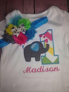 Elephant birthday shirt Custom Birthday shirt any age Elephant   by PrettysBowtique, $22.00 Custom Birthday Shirts, Custom Made Shirts, Elephant Birthday, Birthday Parties, Party Ideas, Age, Trending Outfits, Handmade Gifts, Etsy