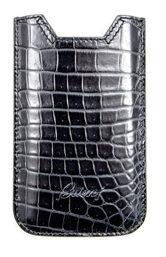 You're #phone has never known #luxury until it has worn this #Brioni #black #alligator #leather #case! Find yours: http://www.frieschskys.com/accessories/cell-phone-accessories #frieschskys #men #mensfashion #fashion #mensstyle #style #moda #menswear #dapper #stylish #MadeInItaly #Italy #couture #highfashion