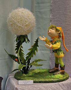(50) Одноклассники Fairy Crafts, Doll Crafts, Decor Crafts, Diy And Crafts, Ballerina Party Decorations, Paper Mache Crafts, Dandelion Flower, Flower Ball, Soft Sculpture