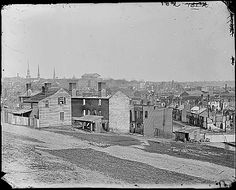 Richmond, Virginia after the evacuation during the Civil War. (c. 1865)
