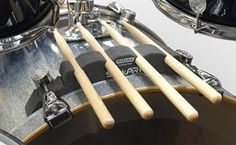 StickARK Drumstick Holder on PDP bass drum