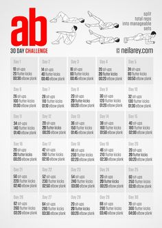 Ab Challenge - Small daily goals that add up to great benefits!
