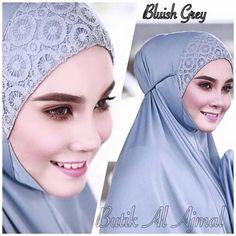Telekung Ajmal Lace Sewing Hacks, Sewing Tutorials, Sewing Patterns, Pakistan Fashion, Hijab Tutorial, Brokat, Islamic Clothing, Plus Size Maxi Dresses, Green Lace