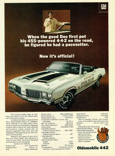 1970 Oldsmobile Cutlass Convertible Indy 442 Pace Car