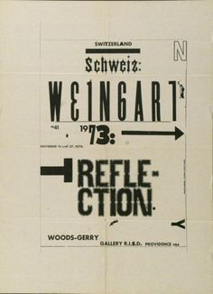 wolfgang weingart, who was born in 1941 in salemertal in southern germany, attended the merz akademie in stuttgart from 1958 to 1960, where he familiarised himself with typesetting and the process of making linocuts and woodcuts. after this he trained as a typesetter and discovered swiss typography. since the 1970s wolfgang weingart has exerted a decisive influence on the international development of typography. in the late 1960s he instilled creativity and a desire for experimentation into…