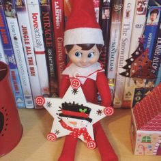 Elf On The Shelf | 2016 | As we were getting ready to decorate our Christmas tree, Loki brought us a new snowman decoration #OurElfOnTheShelf