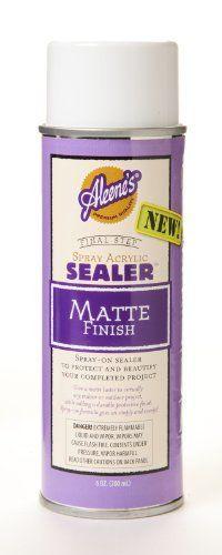 Aleene's Spray Acrylic Sealer Matte Finish. This will seal your chalk art!