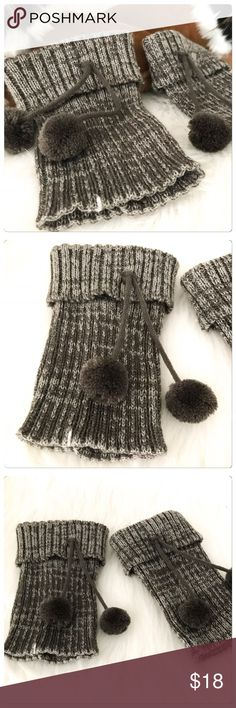 JUST IN! NWT Cozy Soft Gray Pom Pom Boot Cuffs Boot sock and cuff season is coming! These are super soft and so cute! The Pom Poms add an adorable vibe to them! Brand new! Boutique Accessories Hosiery & Socks