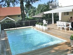 Outdoor Living, Outdoor Decor, Garden Pool, Interior And Exterior, Terrace, Backyard, Pools, Outdoors, Inspiration